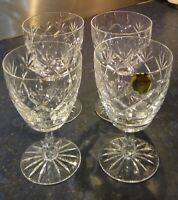 Set of 4 Vintage Webb Corbett Lead Crystal Claret/Wine Glasses Prince Charles 30