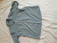 """MENS COTTON TRADERS GREY CHECK SHORT SLEEVE SHIRT SIZE XXL 50"""" CHEST,"""