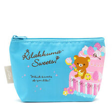 Japan SAN-X Rilakkuma Sweets Desserts Bear Cosmetic Bean Bag Canvas