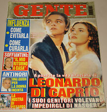 GENTE=1998/8=LEONARDO DI CAPRIO KATE WINSLET TITANIC=DAVID JAMES ELLIOTT=