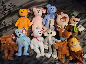 Ty and Warner beanie babies bears bundle