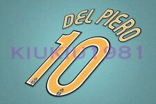 Juventus Del Piero #10 2006-2007 Homekit Nameset Printing