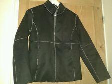 Petite Polyester Biker Jackets for Women