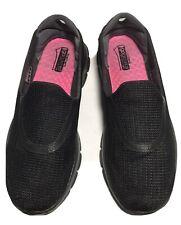 SKECHERS GOWALK 3 Women's Black Slip On Shoes Size 8
