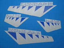 Zündapp OVP Hai 25 weiß/blau Dekorebogen  Dekore Aufkleber 448-150.71 Typ 448