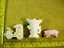 3 x excavated damaged victorian Miniature dollhouse parts age 1880 Art 8394