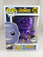 Marvel Funko Pop - Thanos (Purple Chrome) - Avengers Infinity War - No. 289