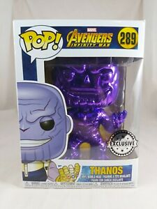 Marvel Funko Pop - Thanos (Purple Chrome) - Avengers Infinity War - No. 289