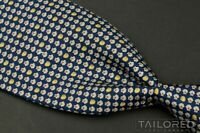 "SALVATORE FERRAGAMO Blue Novelty Seashell 100% Silk Mens Luxury Tie - 3.625"""