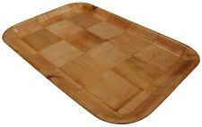 Set of 6 Rectangle Wood Stackable Serving Trays Restaurant Trays 35cm