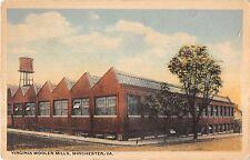 Winchester Virginia Virginia Wollen Mills Exterior View Antique Postcard V16633