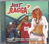 Music CD Reggae Dancehall Just Ragga Volume 7 Various Artist DJ Sealed Album