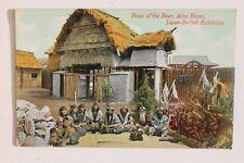 29263 PC Japan British Exhibition Feast of the Bear Ainu Home 1910 AK Ausstellun