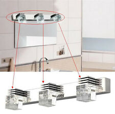 3*3W Halogen Modern Crystal Bathroom Mirror Front Light Lamp Wall Mounted Vanity