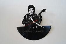 John Lennon with guitar design vinyl record wall clock, black gloss sticker home