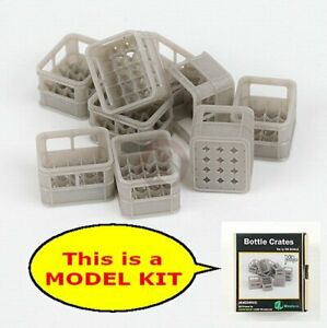 MJ Miniatures 1/35 Plastic Bottle Crates (for 20 bottles) (9 crates) MJEZ35022