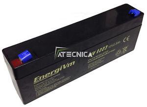 Batería Recargable de Plomo 12 12V 2,3 2A Batería X Seguridad Automatización