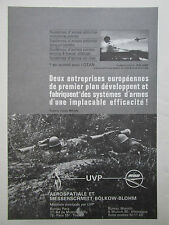1971 PUB UVP AEROSPATIALE MBB ROLAND AIR DEFENSE HOT ANTI TANK FRENCH AD