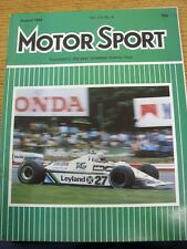 Aug-1980 Motor Sport Magazine: Weekly Motoring Newspaper Vol  LVI No.8 - Outstan