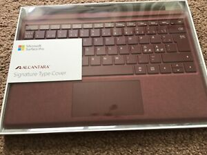Microsoft Surface Pro Signature Type cover Burgundy Norwegian Layout 4/5/6/7