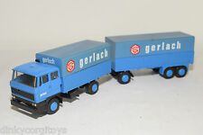 LION CAR DAF 2800 TRUCK WITH TRAILER GERLACH EXCELLENT CONDITION