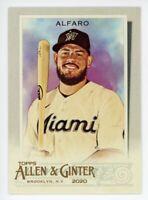 2020 Topps Allen & Ginter #234 JORGE ALFARO Miami Marlins BASE BASEBALL CARD