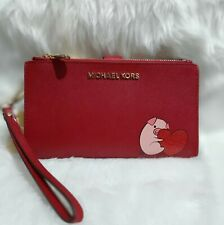US BOUGHT MICHAEL KORS GIFTABLES CNY PIG DEL ZIP WRIST LEATHER