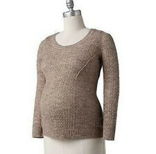 Oh Baby by Motherhood™ Crochet Sweater  Size XL Beige