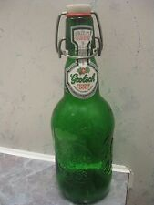 EMPTY GROLSCH PREMIUM LAGER BEER BOTTLE, 16 FL OZ (1 PINT SIZE), WITH LABEL