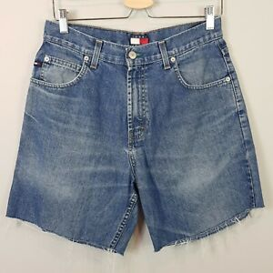 TOMMY HILFIGER | Womens Vintage 90's Denim cut off Shorts [ AU 12 or US 31 ]
