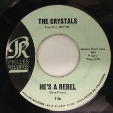 THE CRYSTALS 45: He's A Rebel / I Love You Eddie, Philles Records 106