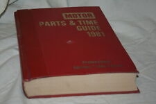 MOTOR Parts & Time Guide 1981 Professional Service Trade Edition Hardcover