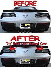 C7 Stingray Corvette SMOKED Blackout 5 Brake Light Cover W/ Z51 Spoiler or Like