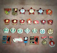 Set of 26 Soviet (USSR) Medals & Pin Badges, Vladimir Ilyich Lenin Original!