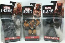 "Hasbro Marvel Legends Series 3.75"" Black Panther, Ulik, and Iron Man-  3 Pack"