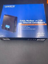 Cisco-Linksys Cable Modem with Ethernet USB Connection CM100