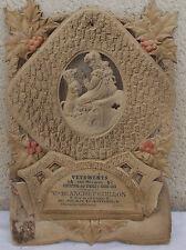 ANCIENNE AFFICHE PUBLICITAIRE PORTE COURRIER CARTON CHROMO LITHO ENFANT
