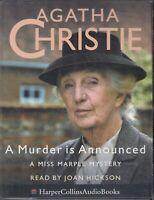Agatha Christie A Murder Is Announced 4 Cassette Audio Book Marple Unabridged