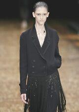 VIKTOR & ROLF Black Silk Fringe Jacket Coat 42 6  8