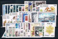 MONACO - Timbres Année 1988 N° 1614 à 1662 Neufs**