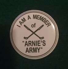 """Arnold Palmer Arnie's Army 1.5"""" Button Pin The Open Championship Royal Birkdale"""