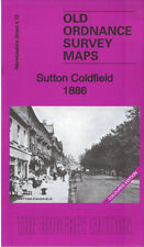 OLD ORDNANCE SURVEY MAP SUTTON COLDFIELD 1886 COLOURED EDITION