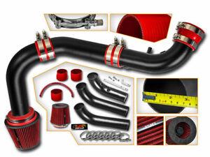 Cold Air Intake Kit MATT BLACK + RED Filter For 02-10 Ram 1500 3.7L V6 / 4.7L V8