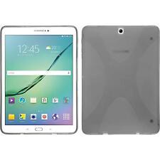 Silikon Hülle für Samsung Galaxy Tab S3 9.7 grau X-Style + 2 Schutzfolien