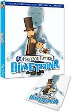 EL PROFESOR LAYTON Y LA DIVA ETERNA BLU RAY + 2 DVD + LIBRO NUEVO ( SIN ABRIR )
