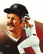 THURMAN MUNSON 8x10 ART PHOTO Vintage Baseball Artwork NEW YORK YANKEES deceased