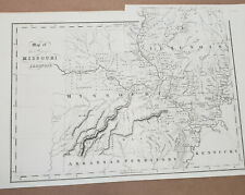 New ListingMissouri & Illinois Map by Hinton 1832