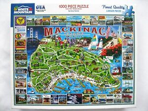 2008 White Mountain Puzzles Mackinac Island MI 1000 Pieces #4685 Jigsaw