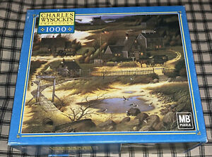 OLDE NANTUCKET Charles Wysocki 1000 Piece Jigsaw Puzzle Complete