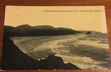 Postcard, Cannon Beach Chapman Point, Seaside Oregon, Patton Vintage F02